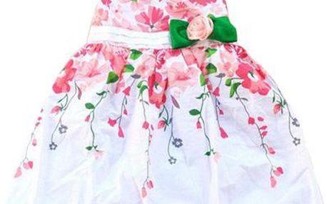 Letní dětské šaty zdobené květinami