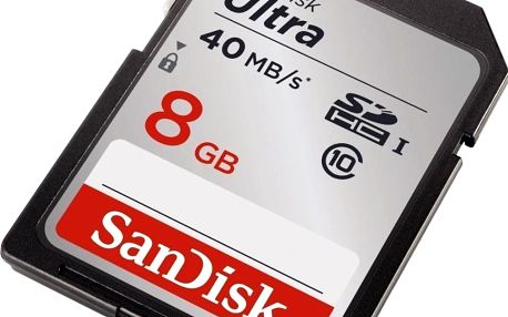 Sandisk SDHC 8GB CL10 40MBs