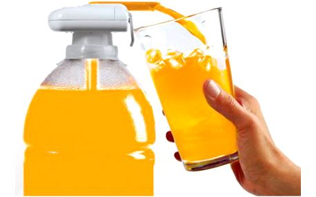 Kouzelný kohoutek na nápoje - nalévejte si šťávu z láhve pohodlně!