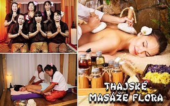 Thajské masáže Flora! 60/90/120 minut PRAVÝCH THAJSKÝCH MASÁŽÍ dle vašeho výběru!