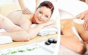 Olejová masáž celého těla pro dva