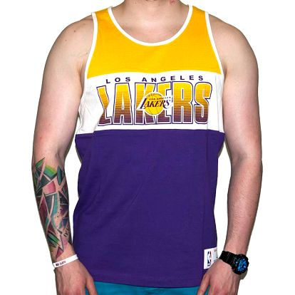 Tílko Mitchell & Ness Los Angeles Lakers Home Stand Team Colors fialová / vícebarevné M