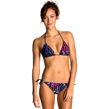 Deep Blue Bikini Tie Sides True Black