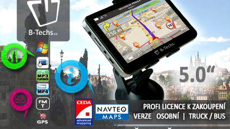 """4.3"""" nebo 5"""" GPS navigace s aktualizací map"""