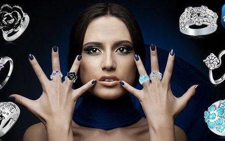 Moderní prstýnky s českými krystaly
