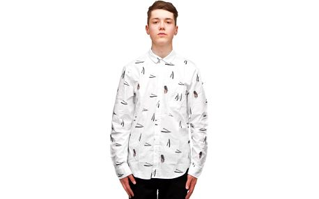 Košile Cuckoo´s Nest Close Shave White bílá / černá L
