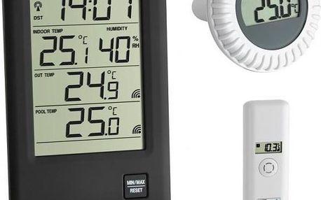 Bezdrátový teploměr TFA Malibu 30.3053 s čidlem vzdušné teploty a plovoucím čidlem na měření teploty vody