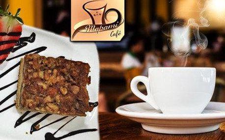 Káva a medovo-ořechový řez pro 1 nebo 2 osoby