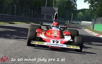 2x 60 minut jízdy pro 2 osoby na 3D automobilových simulátorech. Vychutnejte si atmosféru závodů.