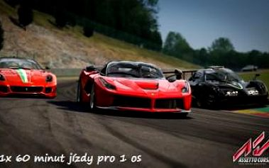 60 minut jízdy na 3D závodních automobilových simulátorech. Vychutnejte si atmosféru závodů.