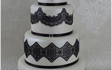 Cake Lace - jedlá krajka směs - černá - Black - 200g