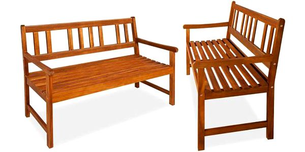 Zahradní lavice z masivního akátového dřeva odolná proti rozmarům počasí