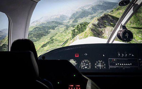 30 nebo 60 minut v leteckém simulátoru v Praze