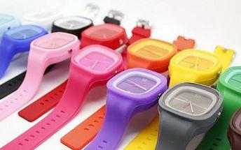 silikonové hodinky, módní doplněk
