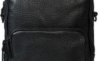 Gino Rossi - Kožená taška - černá, ONE