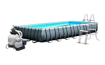 Bazén INTEX Rectangular Ultra Frame 975 x 488 x 132cm set + písková filtrace