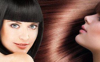Vyšetření vlasů,regenerace, foukaná, barva nebo melír + závěrečný styling
