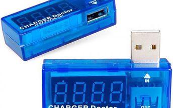 Digitální USB tester - modrá barva