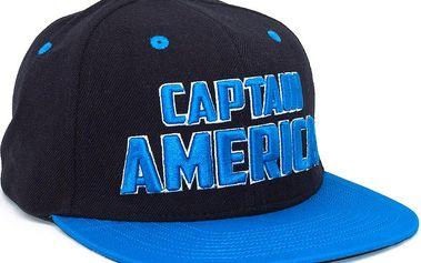 Kšiltovka Addict Captain America Character Special Black/Blue Snapback černá / modrá / vícebarevné