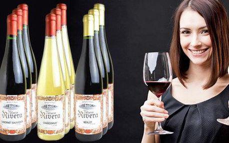 Sada 12 lahví španělského vína Rivera