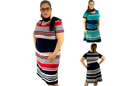 Letní šaty pro plnoštíhlé dámy Andrea!