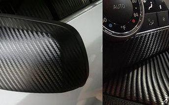 Černá 3D karbonová folie: pro atraktivní vzhled vašeho automobilu nebo telefonu.