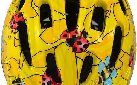 Dívčí cyklistická helma ROXY S/M - žlutá