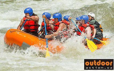 Adrenalinová plavba na raftech v Rakousku na řece Salze včetně dopravy, ubytování v kempu a večeře na grilu