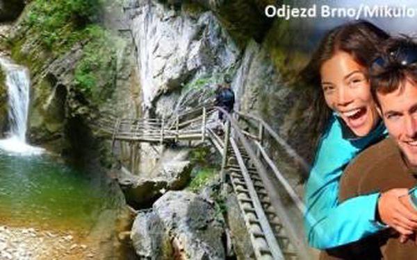 Zájezd do MEDVĚDÍ SOUTĚSKY ve Štýrsku pro 1 osobu. Kaňon, vodopády, můstky. Odjezd Brno/ Mikulov.