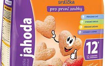 Sunarka dětský snack jahodová srdíčka 2x50g