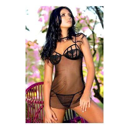Košilka MIA DOUX Persia Barva: černá, Velikost: M
