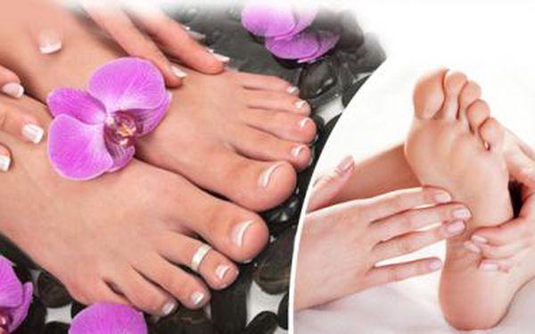 Profesionální MOKRÁ PEDIKÚRA! 60minutové ozdravné ošetření nehtů a kůže, včetně masáže chodidel!