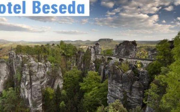 ČeskoSaské Švýcarsko: Hotel Beseda** 4 dny s polopenzí pro 2 až do září