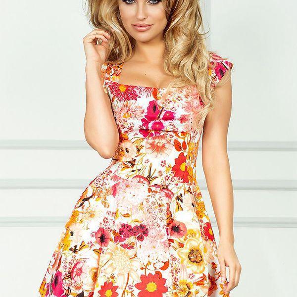 Letní květinové šaty SAF 41981 - velikost L
