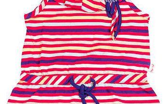 Dívčí pruhovaná tunika - barevná