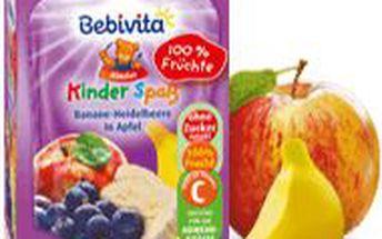 BEBIVITA Banán a borůvky v jablku 90g
