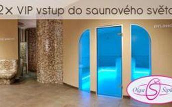 Neomezený VIP vstup pro 2 osoby do Saunového světa...