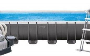 Intex 28362 Bazén obdélníkový s tvrzeným rámem 732 x 366 x 132 cm