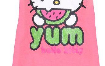 Dívčí růžové šaty Hello Kitty
