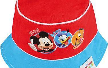 Dětský klobouček Mickey Mouse - červený