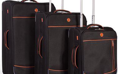 Set 3 cestovních kufrů Trolley Negro