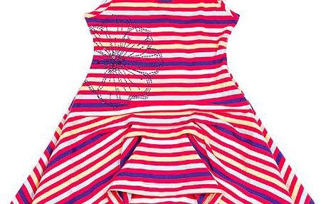 Dívčí pruhované šaty - barevné