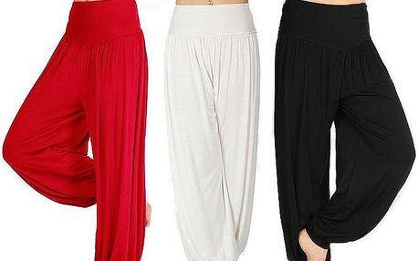 Dámské harémové kalhoty pro maximální pohodlí doma i při sportu v 5 barvách