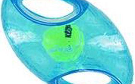 Hračka guma + tenis Jumbler míč rugby Kong medium/large - modrá