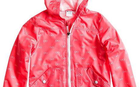 Dívčí bunda Hinako Jacket micro glasses combo glow pink, růžová