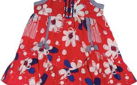 Dívčí šatičky s kalhotkami - modro-červené