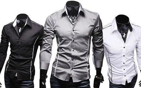 Stylová pánská slim-fit košile s poštovným v ceně
