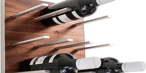 Nástěnný stojan na víno STACT, ořech - doprava zdarma!