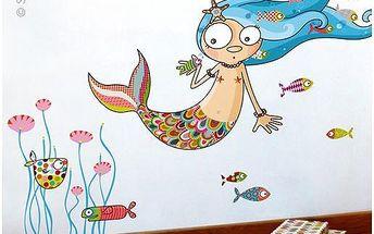 Samolepicí dekorace - Mořská panna