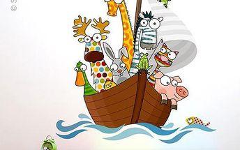 Samolepicí dekorace - Na lodi